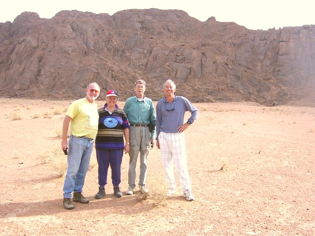 The group, looking south to the near jabals