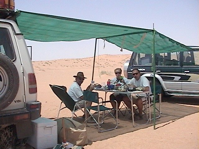 Our group having lunch on the Confluence point