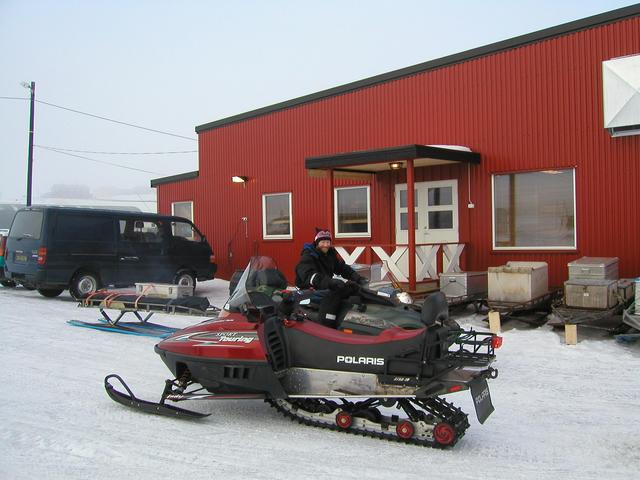 Renting a snowmobile