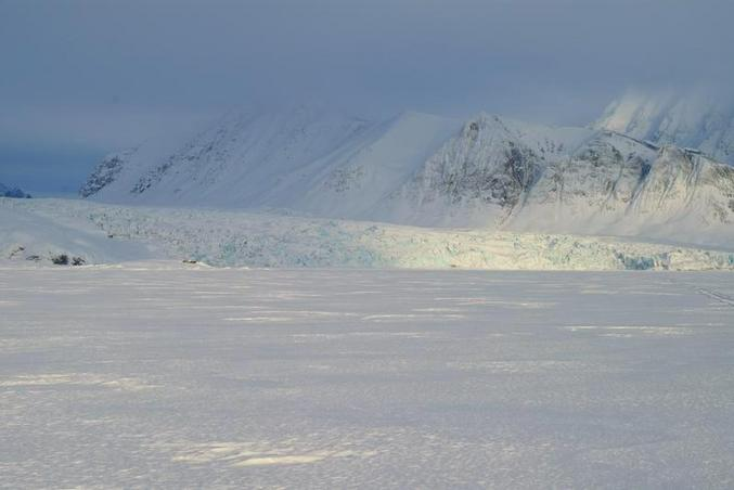View towards North: Blomstrandbreen