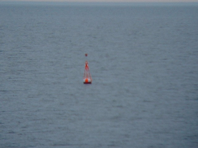 Buoy marking the T-Route, the buoyed route from the North Sea to the Baltic Sea