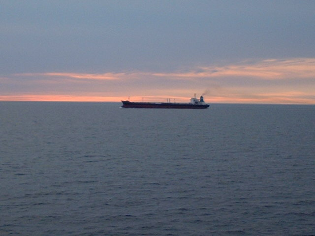 A southbound tanker in the Kattegat