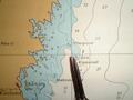 #4: Navigational chart showing the bouy