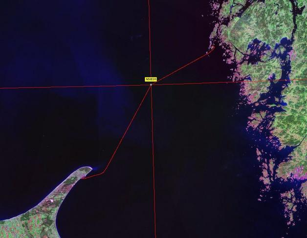 Satellite image with track log