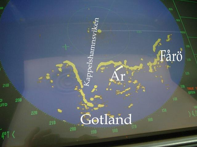 Scenery visible in the radar