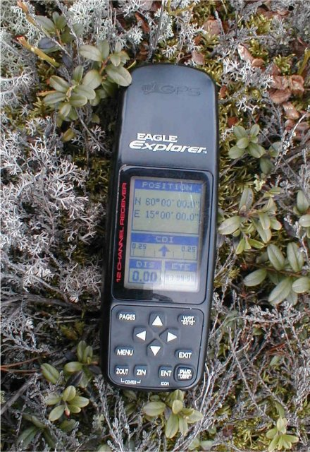 The GPS receiver at the confluence