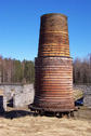 #6: The remains of an old blast-furnace about 2 km from the confluence.
