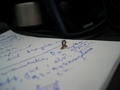 #9: Caterpillar reading my notes