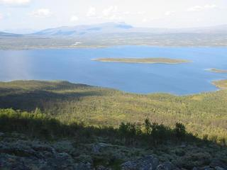 #1: View north over lake Överuman