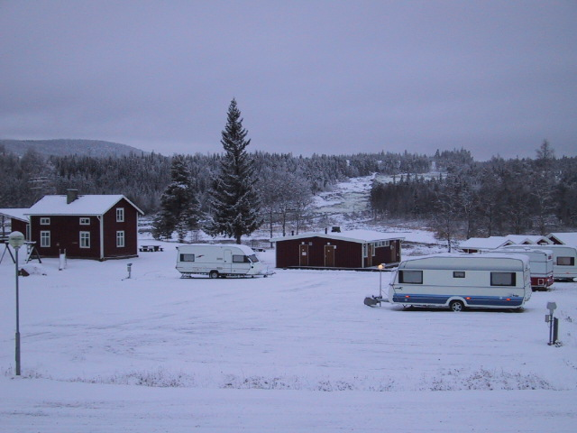View of STORFORSEN with campingground.