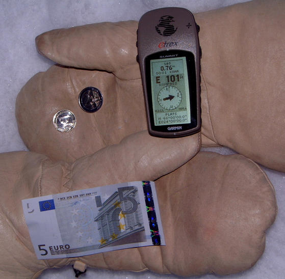 GPS and First Day Euro currency