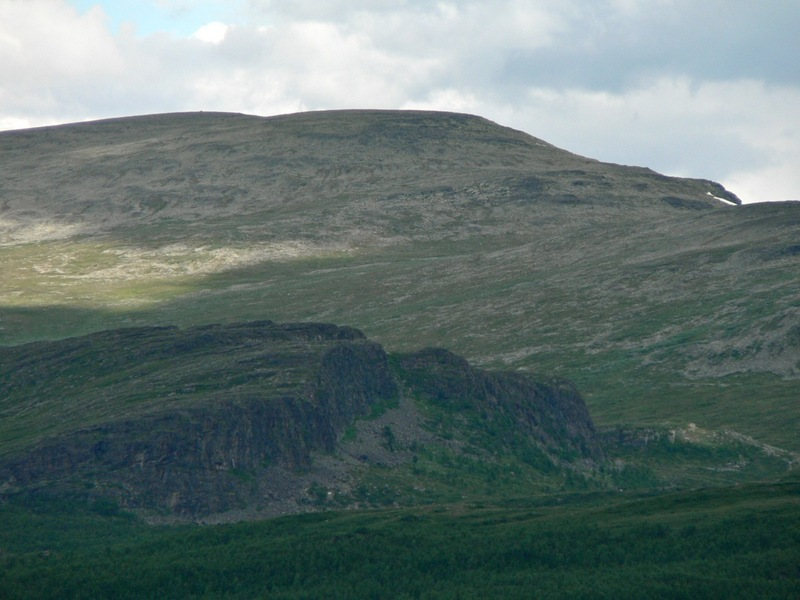 View NNE to the CP, which is 60 m in altitude below the top