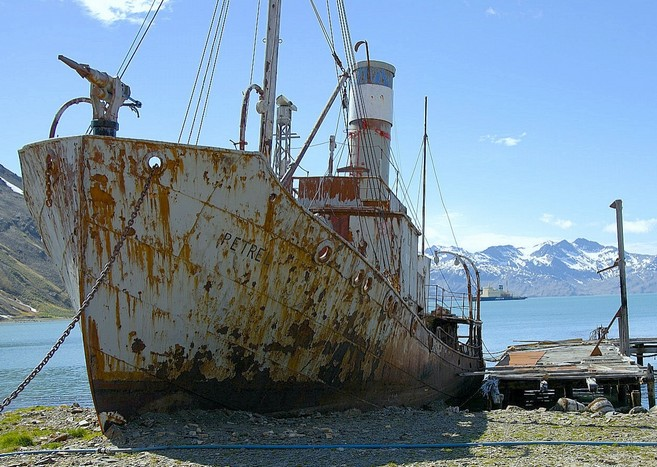 "Vessel ""Petrel"" at the old whaling station, Grytviken"