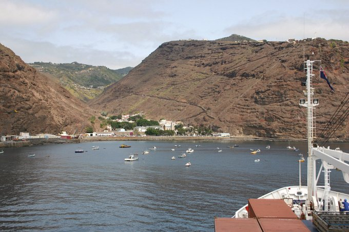 "James Town seen from the ""St Helena"""