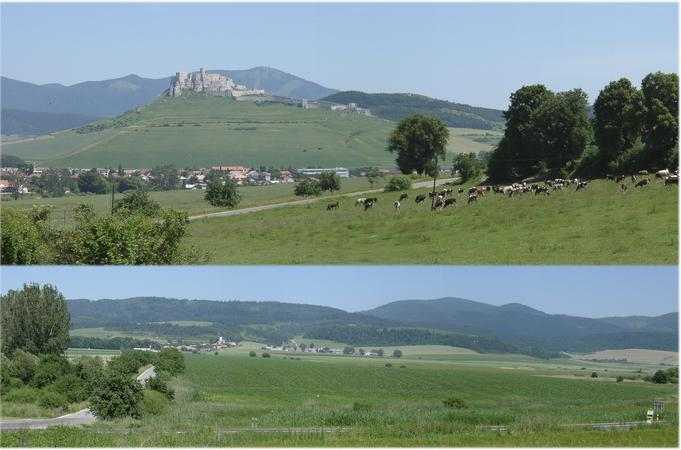 Spišský Hrad (top) and its hinterland (NORTH)