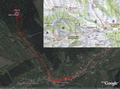 #7: My track on the map (© VKU Harmanec) and on the satellite image (© Google Earth 2007)