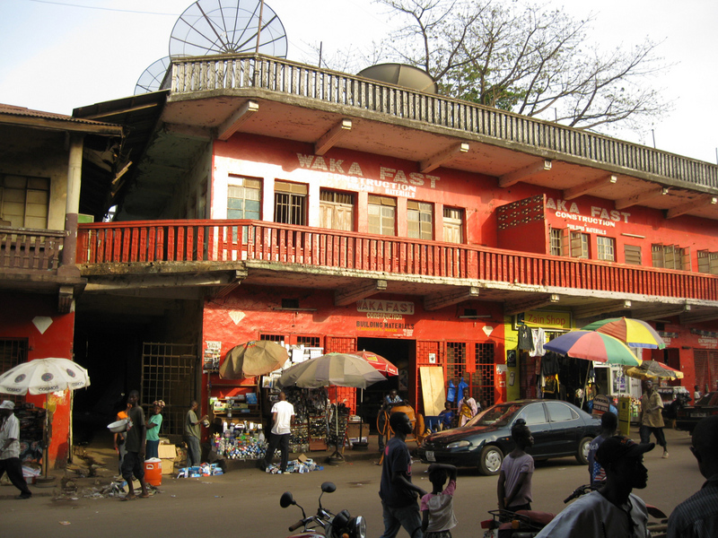 Shops in downtown Makeni