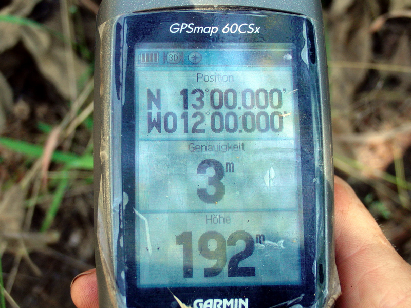 GPS in high grass