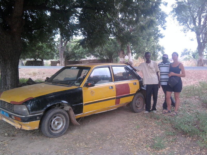 Our taxi from Kaolack