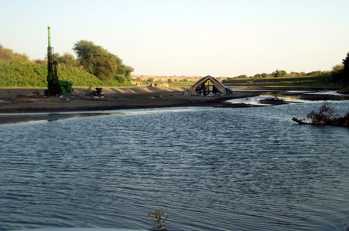 The future dam on `Atbara River
