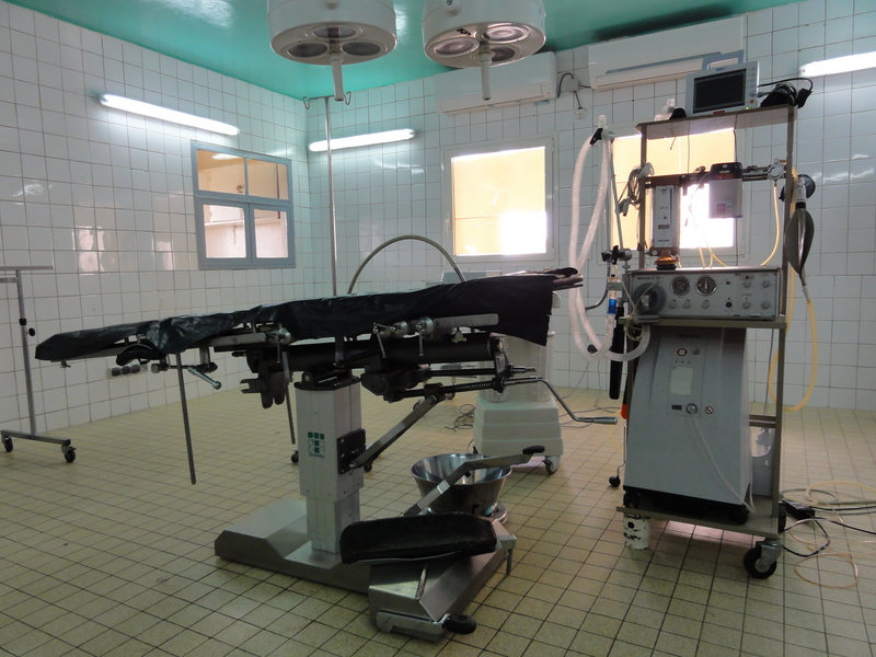 Vintage operating room equipment in N'Djamena