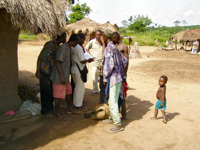 Discussion with villagers