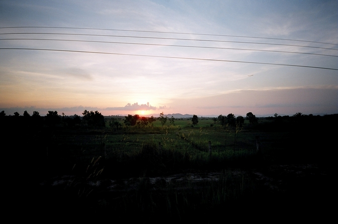 Sunset over Nakhorn Sri Thammarat province