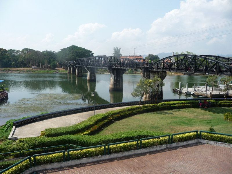 The 'Bridge Over the River Kwai' in our launching off town, Kanchanaburi