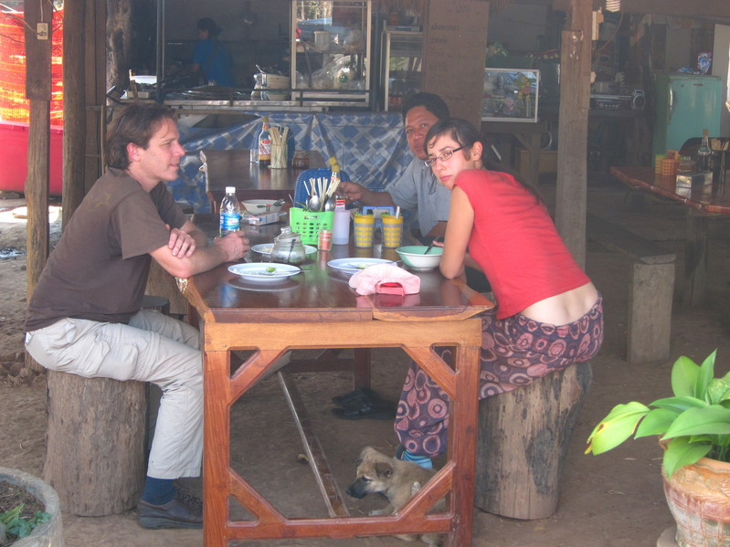 Nataliya and I having a meal after talking to park rangers.  Nataliya helped us on our first try.