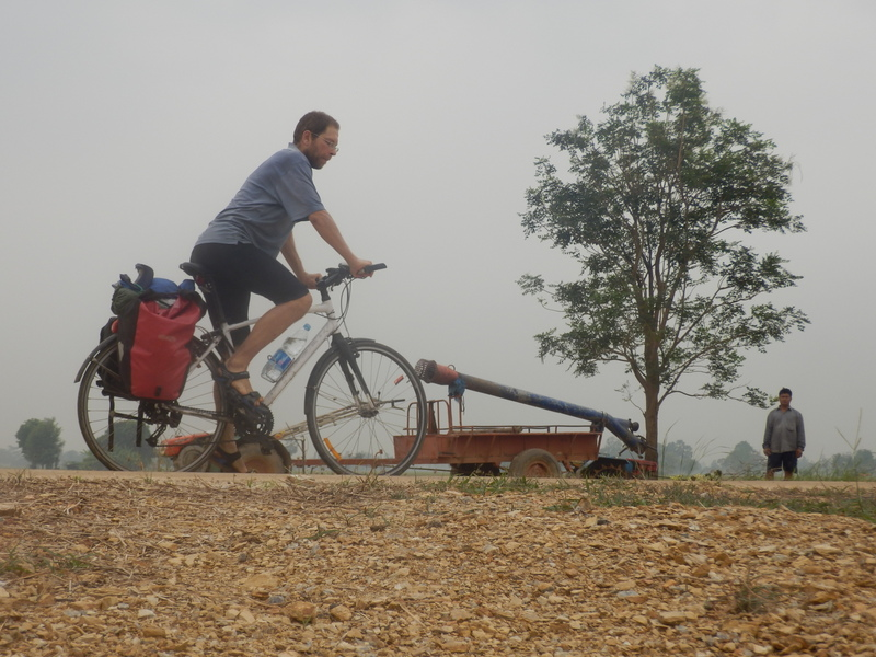 Cyclist, Mobile Pump and Farmer