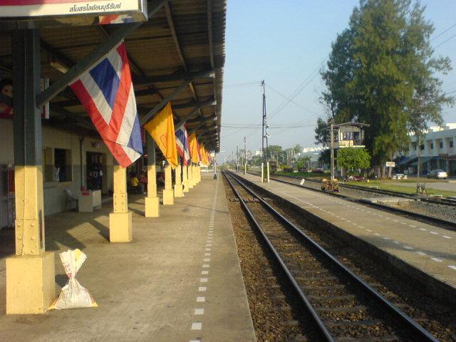 At Buriram station in the morning