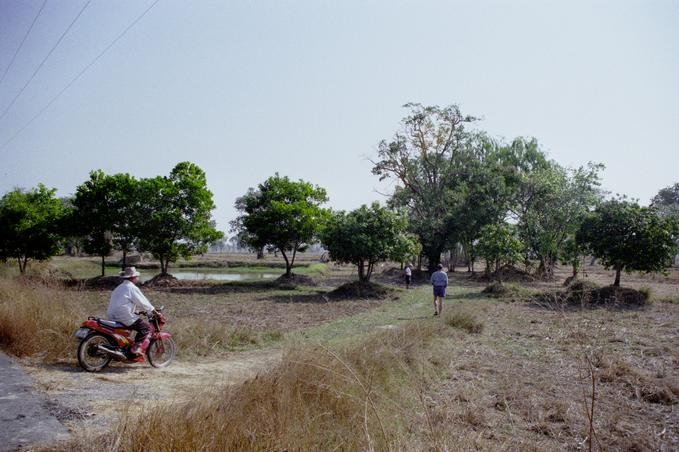 Walking towards confluence; curious farmer drives up