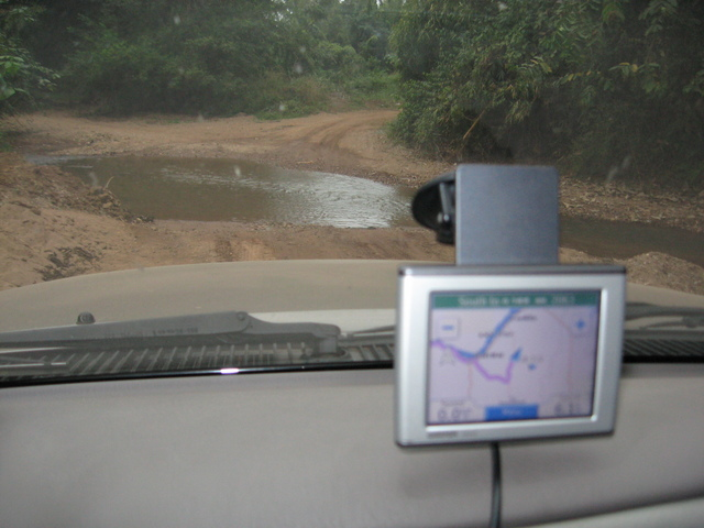 One of the water crossing