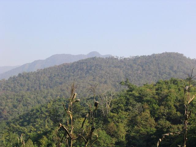 Mountains towards confluence