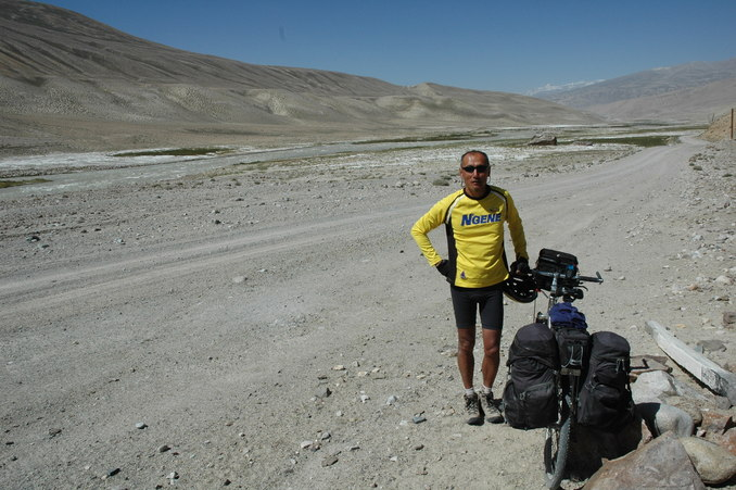 A rest stop at a stretch of the route known as the Buddist Silk Road