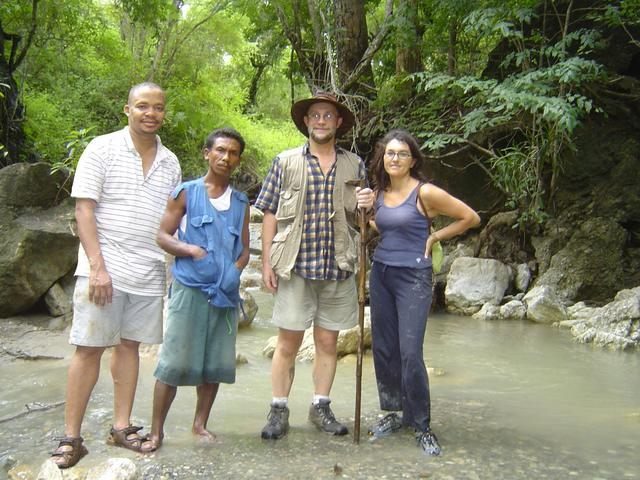 Frank, Rosalino, Sam and Conceição at the Confluence