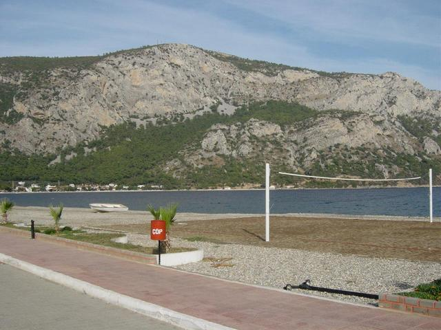 Looking North, the harbour is around to the right of the picture