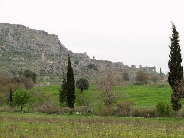The antique site of Silyon on the side of the mountain which is opposite to the Confluence