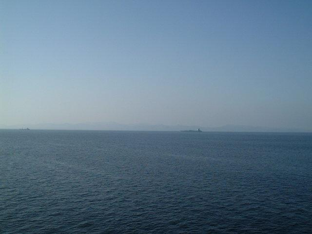 View to the West: İmroz Island seen from the Confluence