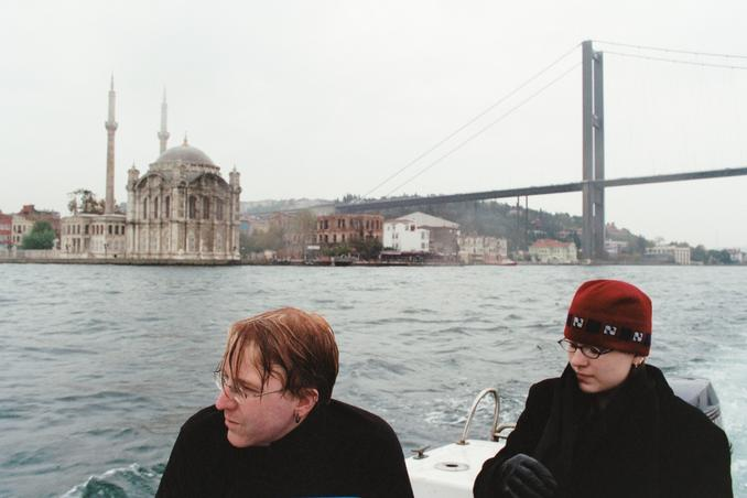 Darrell and Lacey with the Ortaköy Mosque, and the Bosporus Bridge.