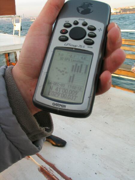 One of several GPS photos - this one taken 54 m from the Confluence