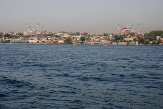 #1: West view - Blue Mosque at left