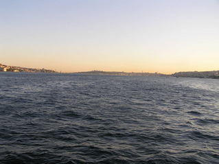 #1: A Geographer's Dream: View to the South a few kilometers north of the Confluence, down the Bosphorus, with Asia on the left and Europe on the right.