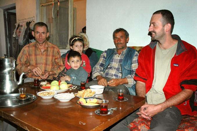 Çay (tea) with Arif and his family