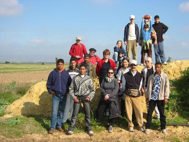 The group with Salāh, the farmer who owns the field, and some new friends