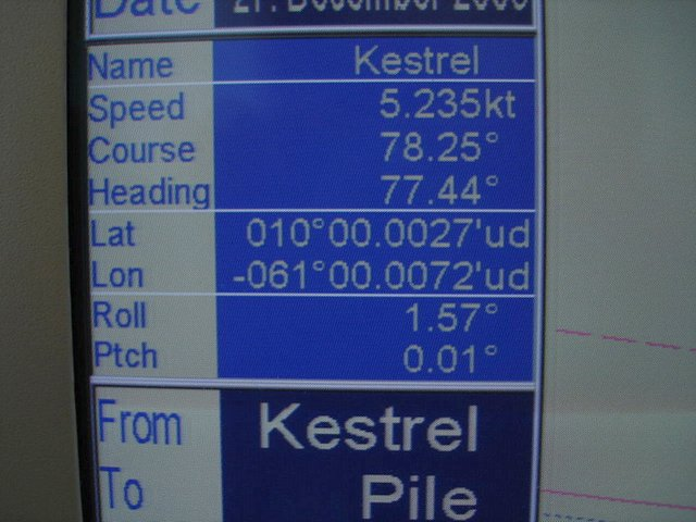 Seaway Kestrel GPS Screen