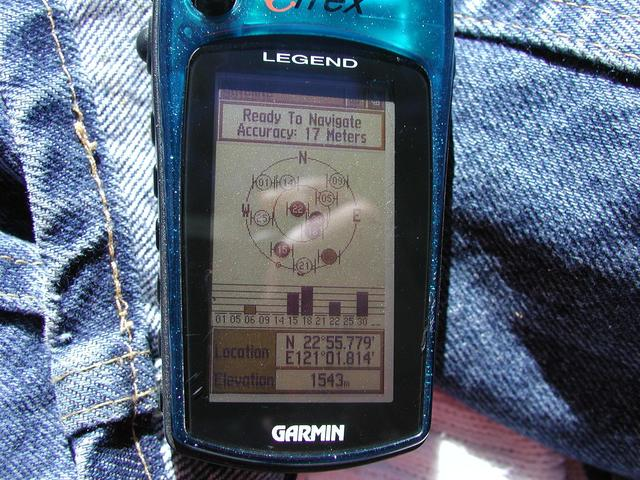 GPS reading at 8.4 km from the point