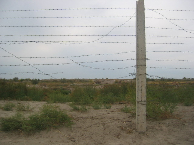 The Fence between Uzbekistan and Turkmenistan