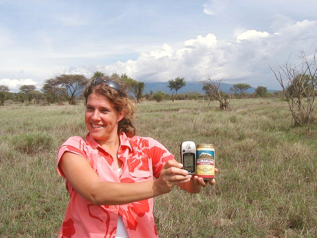 Mt. Kilimanjaro, a GPS, and a can of cold Kilimanjaro lager... what more could you want?