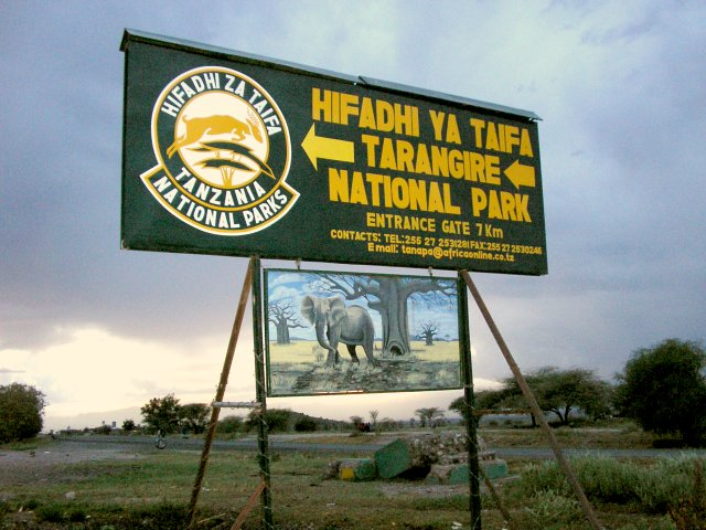 The confluence is located inside the Tarangire national park